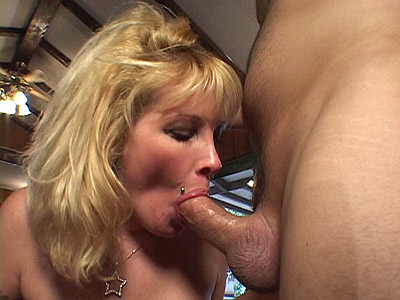 Blonde MILF Slobbers Dick
