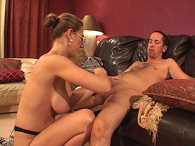Busty MILF Buffing a Dick 