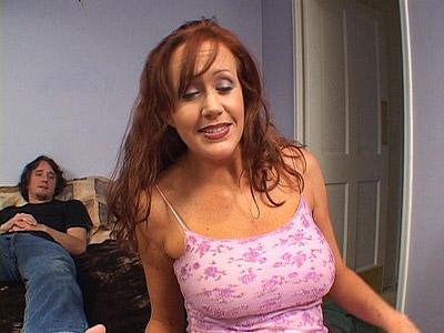 Busty Brunette MILF Tease