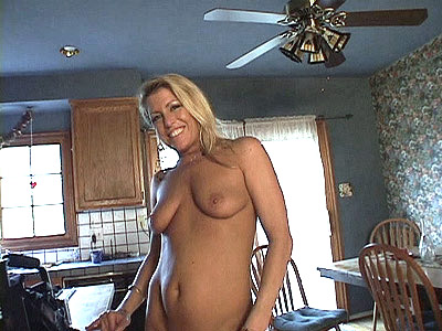 Naked Blonde MILF Stripping