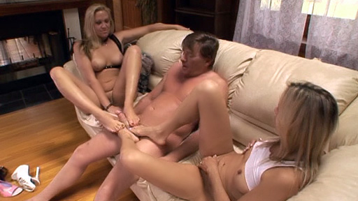 Footsie MILFs Having a Threeway